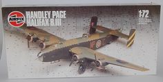 Airfix Handley Page Halifax B.III in 1:72 scale.