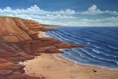 PEI Artist - Lighthouse Paintings - East Coast Paintings Lighthouse Painting, Canadian Artists, East Coast, Paintings, Artwork, Nature, Travel, Work Of Art, Naturaleza