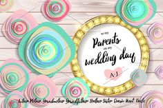 Wedding invitation by nastyaaroma on @creativemarket