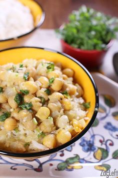 Quick and easy Chickpea Curry For One served with basmati rice. Healthy, flavorful and ready in under 30 minutes! | http://www.zagleft.com