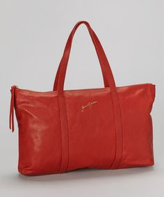 Take a look at this Junior Drake Top-Zip Red Tara Tote on zulily today!