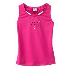 Jacques Moret Powerful Hearts Dance Tank Top - Girls 4-10, Size: Medium, Pink