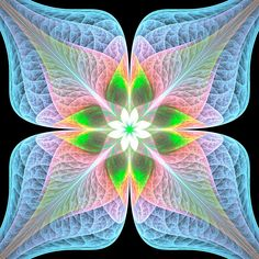 Leafy by bunnywithrose on DeviantArt Psychedelic Experience, Psychedelic Drugs, Fractal Patterns, Patterns In Nature, Different Kinds Of Art, Mandala Art, Watercolor Mandala, Funky Art, Human Art