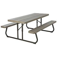 Lifetime 60105 Wood Grain Picnic Table and Benches, 6 Feet