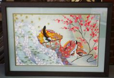Beautiful Asian artwork complimented perfectly with this frame and mat combo! #art #framing #denver #colorado