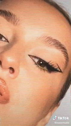 Edgy Makeup, Makeup Eye Looks, Eye Makeup Art, Cute Makeup, Skin Makeup, Eyeshadow Makeup, Eyeliner Designs, Eye Makeup Designs, Maquillage On Fleek