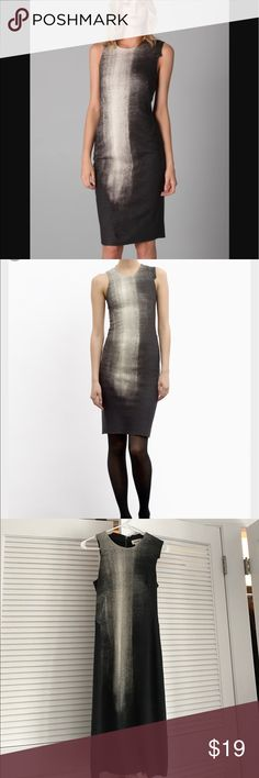 Helmut Lang Print Felt Abyss Dress Beautiful, felt, form fitting dress. Used but in good condition. Freshly dry cleaned, no stains, etc. Helmut Lang Dresses
