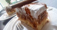 Výborný jablčník, skvelá piškóta jablčka a ľahká šľahačka. Potrebujeme: 4 žltka+ sneh zo 4 bielkov 250g práškový cukor 1 vanilka ... Sweet Recipes, French Toast, Food And Drink, Pie, Sweets, Baking, Breakfast, Cakes, Decor