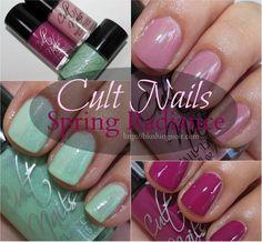 Cult Nails Spring Radiance Nail Polish via @BlushingNoir #swatches #nailpolish #pink @Cult Nails
