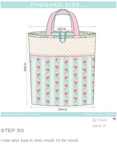 Tote Bag Sewing Tutorial. How-to step by step