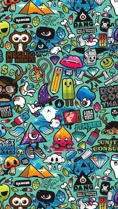 nice art-work-pattern-illustration-graffiti-green iphone 6 plus wallpaper Graffiti Wallpaper, Screen Wallpaper, Cool Wallpaper, Graffiti Art, Mobile Wallpaper, Hipster Wallpaper, Math Wallpaper, Wallpaper Shelves, Batman Wallpaper