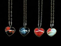 Gretchen Walker is one of my all-time fav jewelry designers.  These enamel hearts are so sweet.