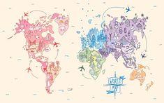 Wallpaper Notebook, World Map Wallpaper, Mac Wallpaper, Macbook Wallpaper, Aesthetic Desktop Wallpaper, Tumblr Wallpaper, Computer Wallpaper, Wallpaper Backgrounds, Disney Wallpaper