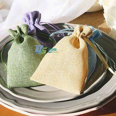 Wedding Drawstring Jute Linen Candy Gift Storage Travel Favour Bags 10x15cm New