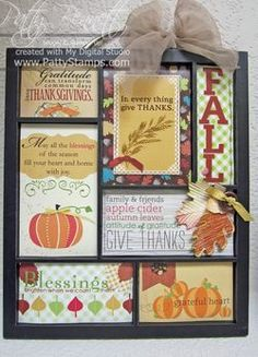 Stampin Up Printers Tray Fall  Christmas Class - Patty's Stamping Spot