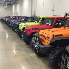 Jeep Rainbow. Which color would you take? @starwoodmotors #jeep #jeepwrangler #wrangler #jeepporn #itsajeepthing