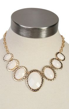 large oval bead statement #necklace  $11.60