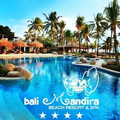 BALI MANDIRA BEACH RESORT LEGIAN 4 from $789 per person  PACKAGE INCLUDES: 7 Nights in a Superior Room Return private airport transfers Daily buffet breakfast at Celagi Restaurant ROOM UPGRADE: Deluxe Cottage from $175pp #bali #baliindonesia #balimandira #holiday #baliresorts #resorts Bali Beach Resorts, Superior Room, Resort Spa, Buffet, Cottage, Restaurant, Night, Breakfast, Outdoor Decor