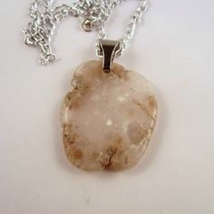 Clear Agate Pendant by mountainrockngem on Etsy