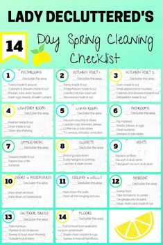 14 Clever Deep Cleaning Tips & Tricks Every Clean Freak Needs To Know Spring Cleaning Checklist, House Cleaning Tips, Deep Cleaning, Cleaning Hacks, Cleaning Lists, Cleaning Humor, Cleaning Routines, Kids Checklist, Weekly Cleaning