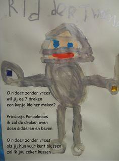 Versjes over ridders http://digibordonderbouw.nl/index.php/themas/ridders/riddersdigibordlessen/liedjes-ridders
