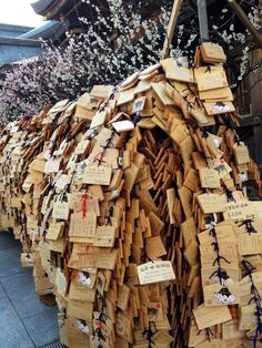 Wishing tablets emi  shinto shrine