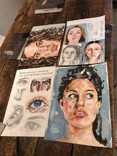 Gcse Art Sketchbook Portraits Paintings 43 Ideas - A Level Art Sketchbook - A Level Art Sketchbook, Sketchbook Layout, Arte Sketchbook, Sketchbook Inspiration, Sketchbook Ideas, Kunst Inspo, Art Inspo, Arte Gcse, Kunst Portfolio