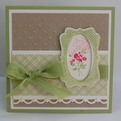 Front view  Baby Blossoms,Four Frames, Decorative Label punch