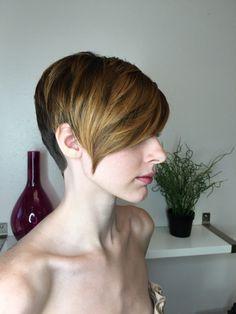 Short woman's haircut