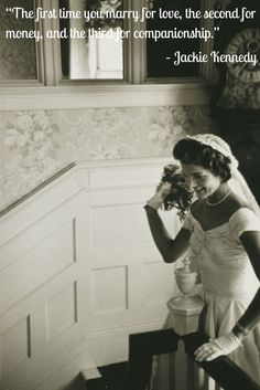 Jackie Kennedy was a classy first lady and style icon, but good to know she also had a sense of humor ;)