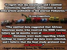 The Guggie Daily: Senior CDC Scientist Dr. Thompson Confirms Data Omitted from Autism/MMR Study
