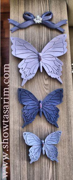 3 lü mor kelebek set #kelebek