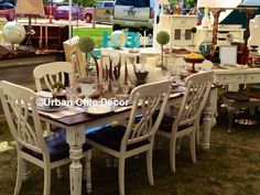 Delightful Country French Farmhouse Table With 6 Matching Farmhouse Chairs. Click The  Image To Find More