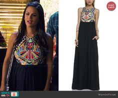 Zoe's multi colored patterned top maxi dress on Hart of Dixie. Outfit Details: http://wornontv.net/46193/ #HartofDixie