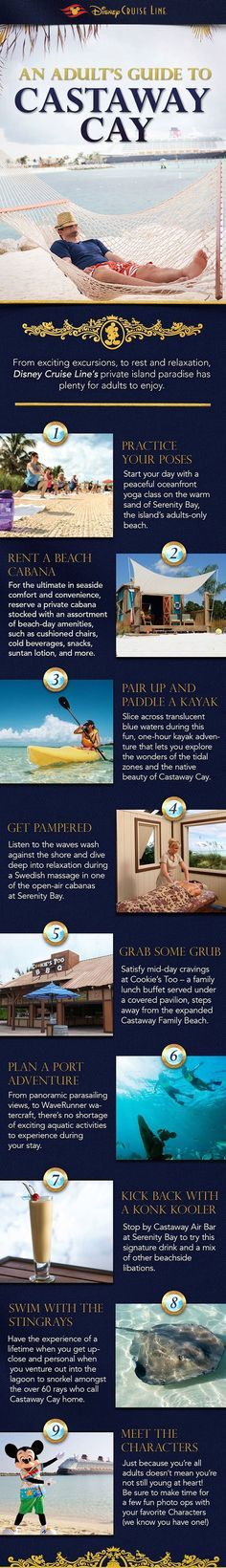 Adult's Guide to Castaway Cay with Disney Cruise Line! Contact me to book your next Disney Cruise. Extra cabin credit available on every Disney Cruise Line booking. karen@mypathunwinding.com 980-292-1505