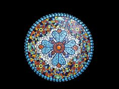 Mosaic Lazy Susan, Wall Medallion, or Table Top Made with Talavera Tile