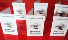 Loyalty Cards for Bubblelush Divine Gifts.