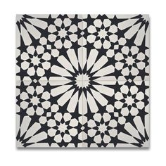 Agdal Balck and White Handmade Cement/ Granite 8 x 8-inch Floor and Wall Tile (Pack of 12) (Morocco)