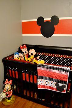 orange mickey mouse nursery