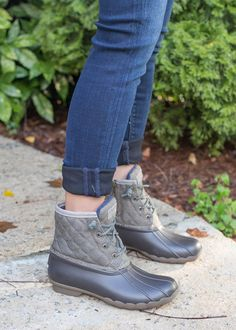Sperry quilted duck boots - a must have for fall and winter and dealing with the rain or snow!