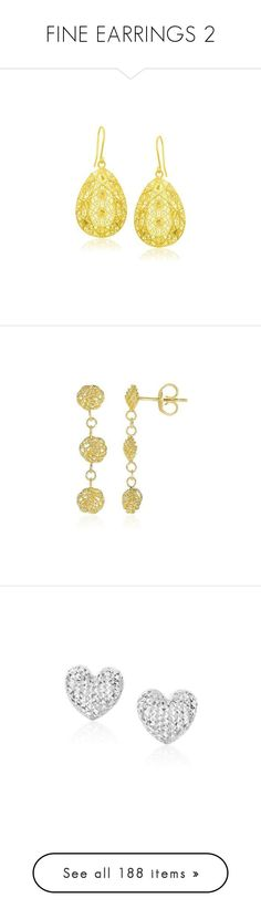 """""""FINE EARRINGS 2"""" by daisystylestore ❤ liked on Polyvore featuring earrings, designs, daisystyle, jewelry, gold round earrings, gold earrings, beaded earrings, long beaded earrings, 14k gold jewelry and heart shaped diamond earrings"""