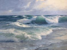 Onshore Surf, oil on canvas panel, 12 x 16 inches; Donald Demers