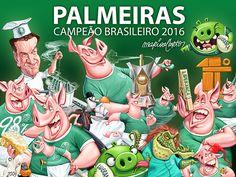 A história do Palmeiras campeão brasileiro de 2016 contada em charges #globoesporte