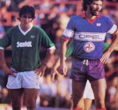 Nando De Napoli and Sócrates - Fiorentina vs Avellino ('84-'85)