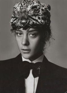 Chloe Sevigny in leopard turban