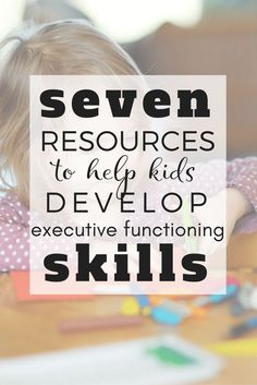 Learn top notch executive functioning skills resources to help you and your children. Resources to Help a Child with Executive Functioning Skills Creative Thinking Skills, Inquiry Based Learning, Kids Learning, Teaching Kids, Working Memory, Therapy Activities, Therapy Ideas, Sensory Activities, Counseling Activities