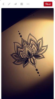Resultado de imagen para lace lotus tattoo black and white