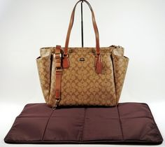 Coach Saddle and Khaki Diaper Bag