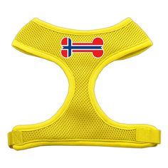 Mirage Pet Products Bone Flag Norway Screen Print Soft Mesh Dog Harnesses, Medium, Yellow >>> Find out more about the great product at the image link. (This is an affiliate link and I receive a commission for the sales)