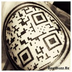 Who else has a #QRCode #tattoo?  #startup #skininthegame Text BUZZ to 63566 if you love #mobilemarketing #tech #apps